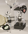 Silver Star Bottle Stopper Favors