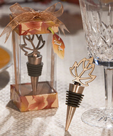 Autumn Leaf Wine Stopper Favors