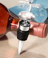 Crystal Diamond Bottle Stopper Favors
