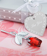 Crystal Red Rose Favors