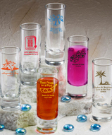 Shooter Glass Favors Personalized