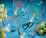 Stemless Wineglass Favors Personalized
