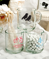 10 oz Glass Mug Favors Personalized