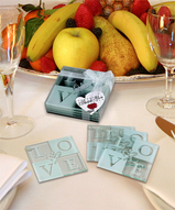 LOVE of My Heart Glass Coaster Favors