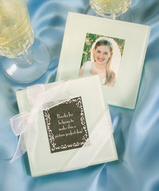 Glass Photo Coaster Favors