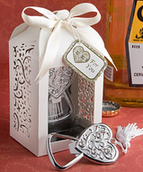 Heart Bottle Opener In Flourish Favor Box