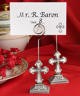 Elegant Cross Placecard Holder Favors
