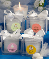 Personalized Round Candle Favor