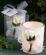 Calla Lily Candle Holder Favors