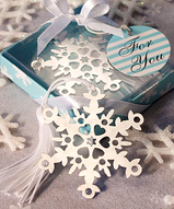 Silver Cutout Snowflake Bookmark Favor
