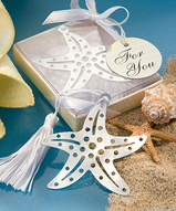 Silver Cutout Starfish Bookmark Favor