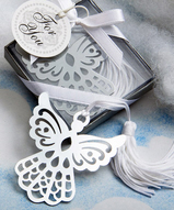 Silver Cutout Angel Bookmark Favor