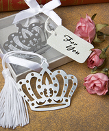 Crown Design Bookmark Favors