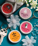 Personalized Round Key Chain Favor