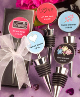 Personalized Wine Bottle Stopper Favors