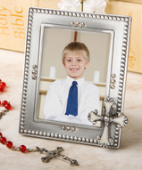 Cross Themed Picture Frame Favor