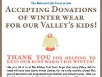 Coat Drive, The Kristan Cole Team