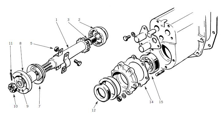 transfer case output shaft bearing with Front Output Shaft   Housing on ZF5HP24 Axial Needle Bearing also 91 Dodge Dakota 5 2 Fuel Pump Wiring Diagram further 63 80 Fj40 45 55 Output Bearing Retainer Seal P 1493 also 9097CH07 Front Output Shaft Seal together with Front output shaft   housing.