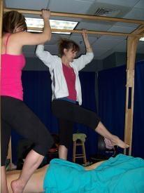 Barefoot massage class