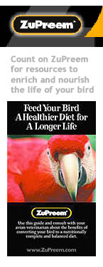 "ZuPreem ""Feed Your Bird A Healthier Diet ..."" Brochure Cover"