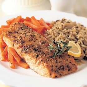 Marinated Salmon Meal