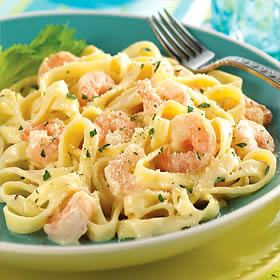 Shrimp Fettuccine Meal