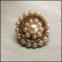 Antique Pearl Pin Petite Circle Wreath 1930s Jewelry